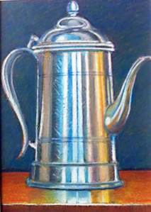 Coffee Pot pastel still life