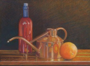Red with Copper still life